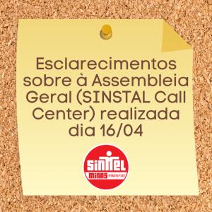 Comunicado SINTTEL-MG